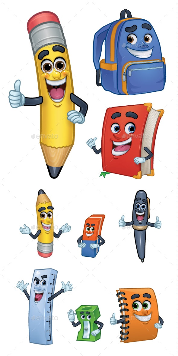 Cartoon Character School Stationery - Miscellaneous Characters