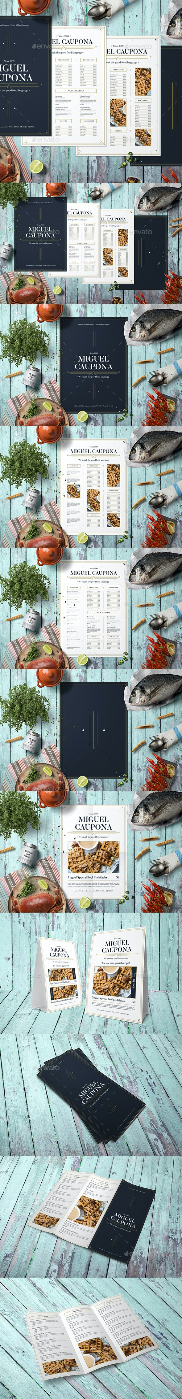 Complete Restaurant Menu Bundle - Food Menus Print Templates