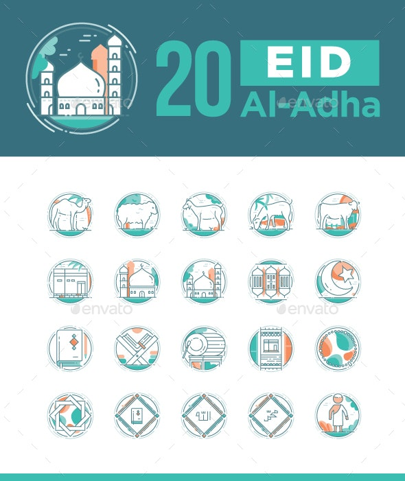 20 Eid Al Adha icon sets