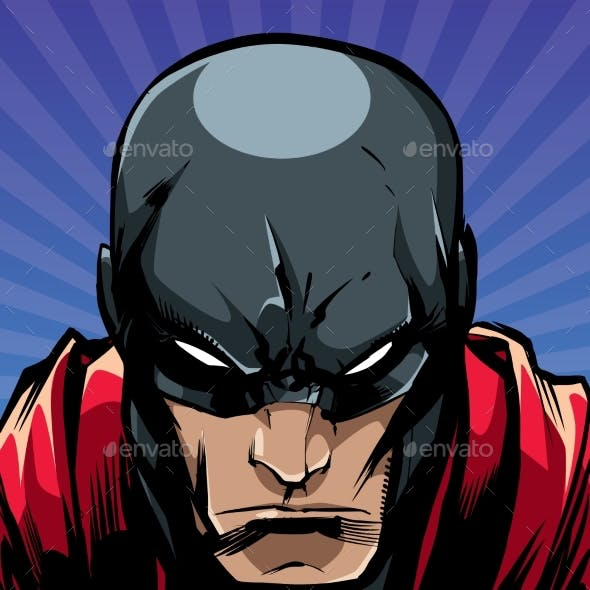 Superhero Portrait Ray Light