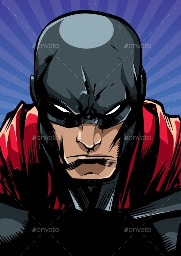 Superhero Portrait Ray Light - People Characters