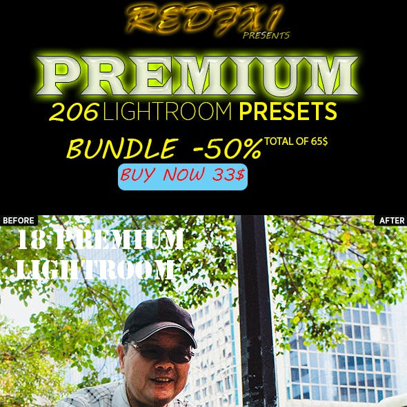 206 Premium Lightroom Presets Bundle