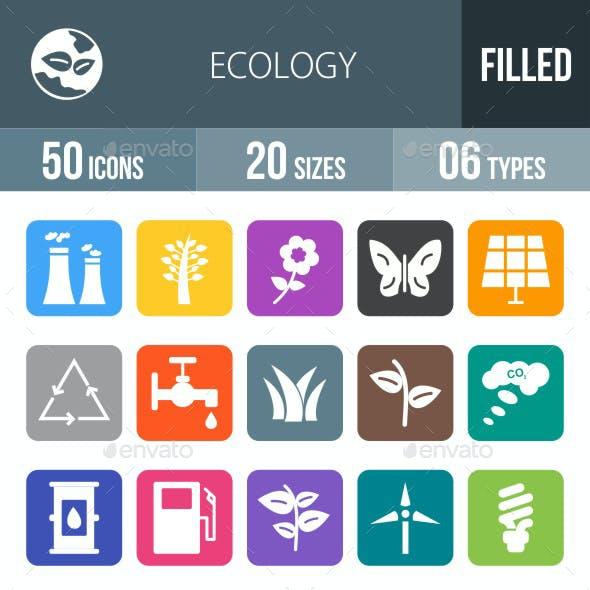 Ecology Flat Round Corner Icons