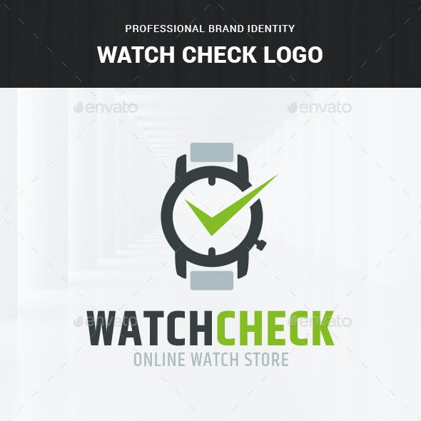 Watch Check Logo Template
