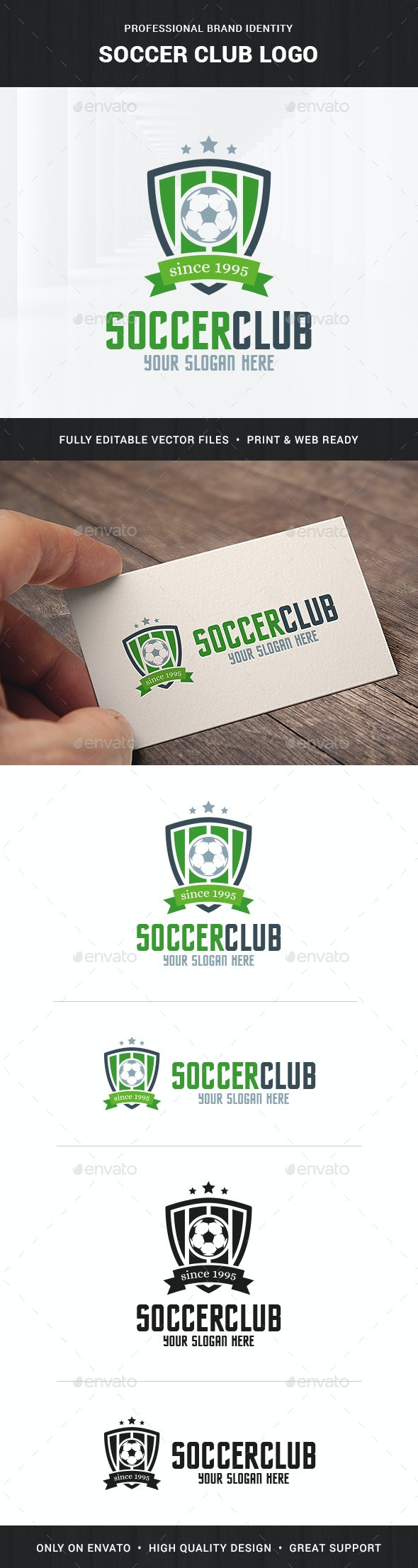 Soccer Club Logo Template - Crests Logo Templates