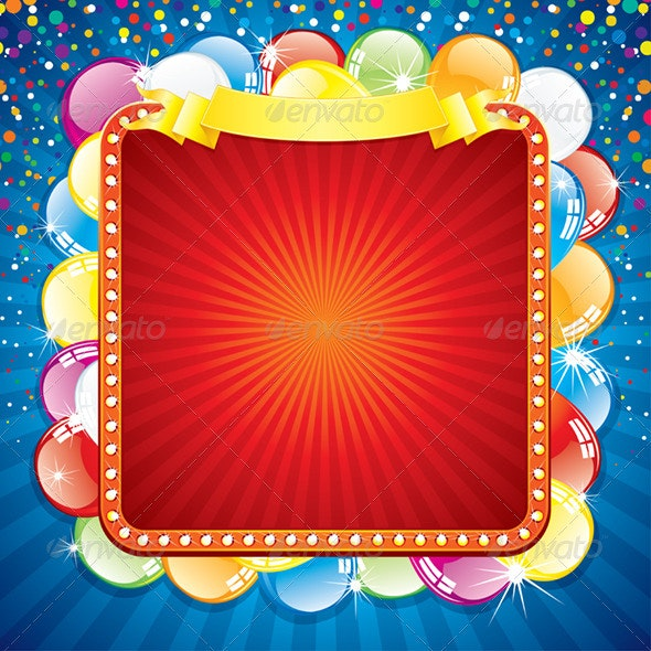 Colorful Festive Billboard - Seasons/Holidays Conceptual