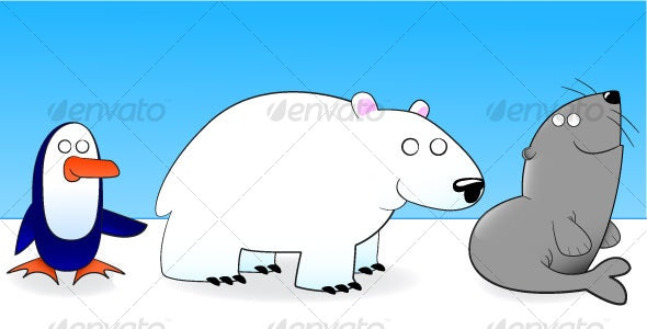 Icy Animals - Animals Characters