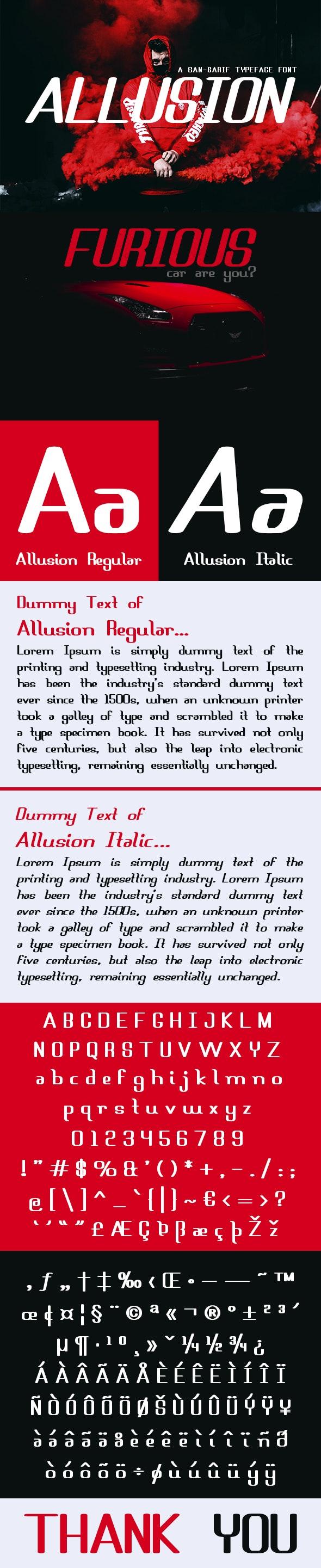 Allusion Font - Fonts