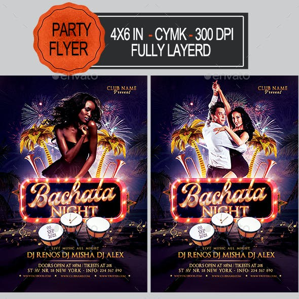Bachata Party Flyer