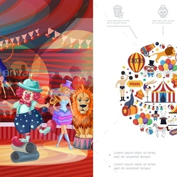 Flat Carnival Circus Concept