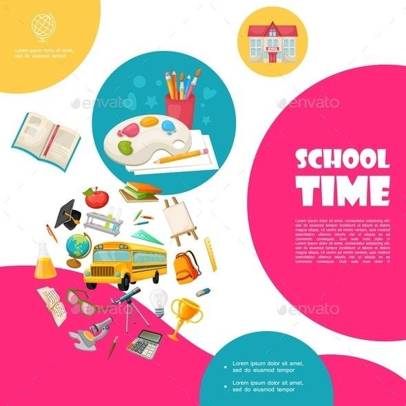 Flat Back To School Concept - Miscellaneous Vectors