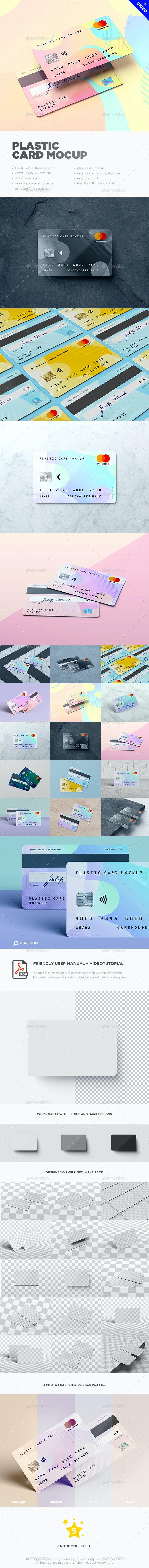 Plastic Card / Bank Card MockUp - Business Cards Print