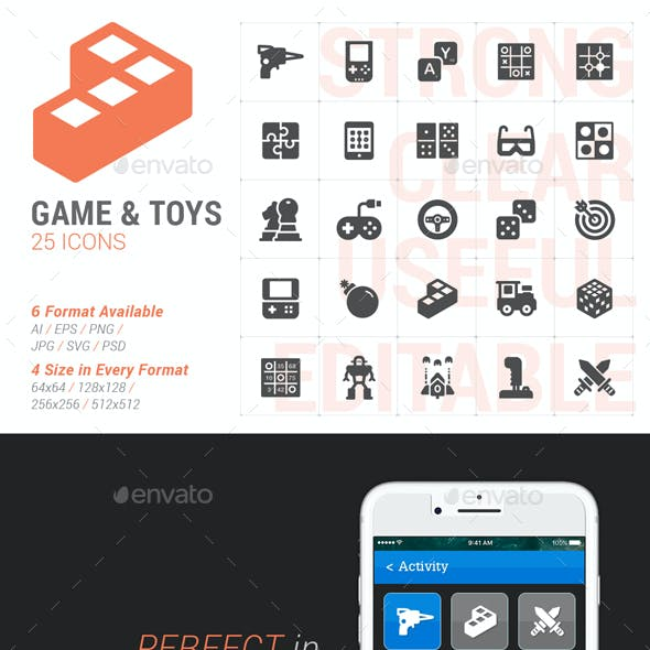 25 Game&Toy Filled Icon