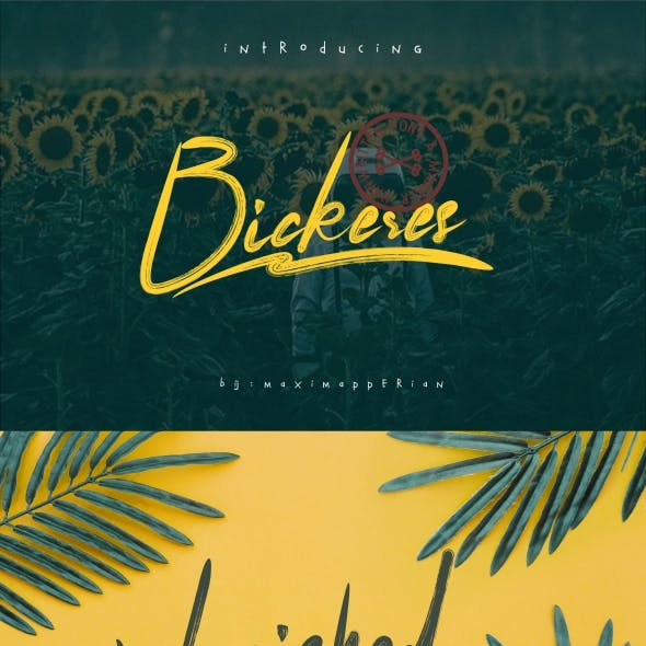 Bickeres Brush Font