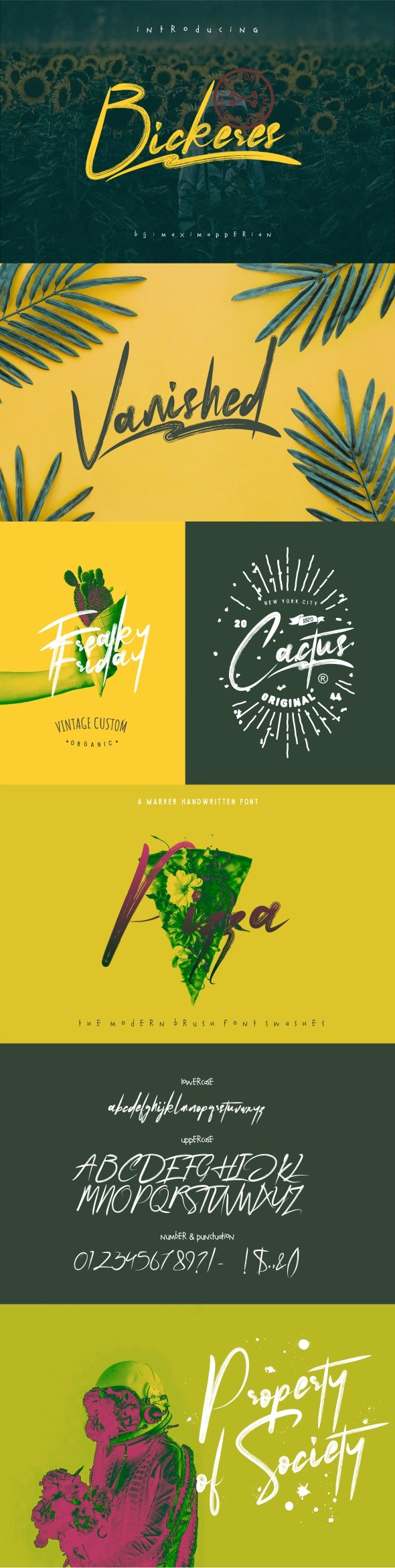 Bickeres Brush Font - Cool Fonts