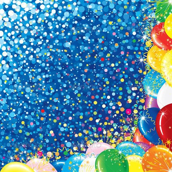 Celebration Colorful Background - Backgrounds Decorative