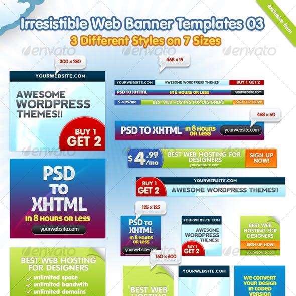 Irresistible Web Banner Templates 03
