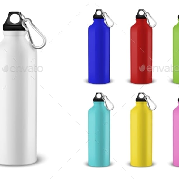 Vector Realistic Different Color Bottles