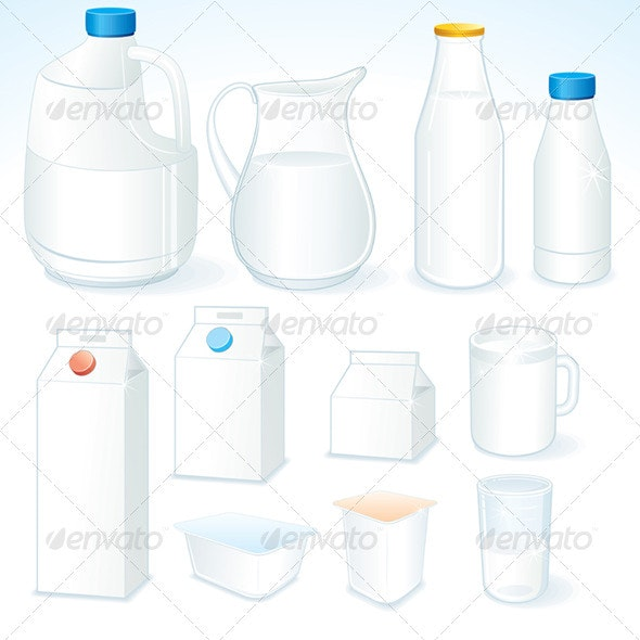 Milk Packages - Food Objects