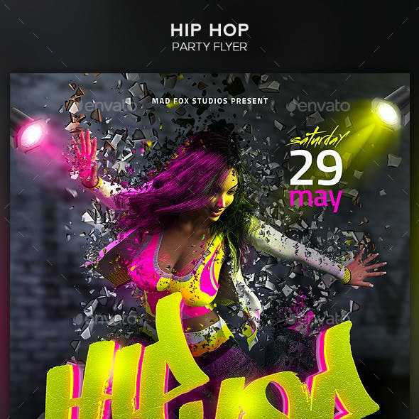 Hip Hop Party Flyer