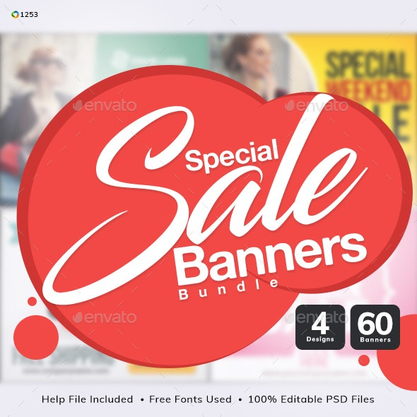Special Sale Banner Bundle - 4 Sets - Updated! - Banners & Ads Web Elements