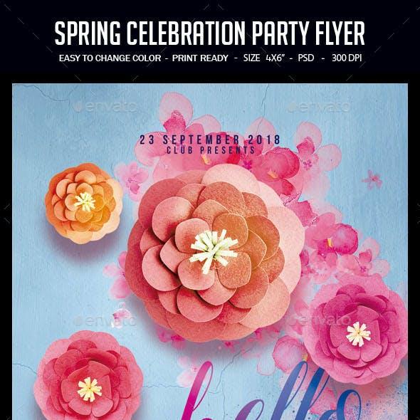 Spring Celebration Party Flyer
