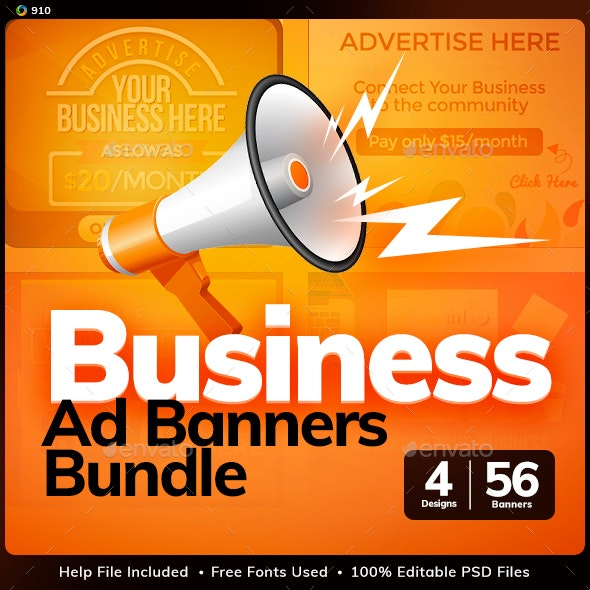Sell Your Ads Banner Design Bundle - 4 Sets - Updated! - Banners & Ads Web Elements