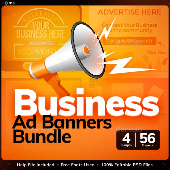 Sell Your Ads Banner Design Bundle - 4 Sets - Updated!