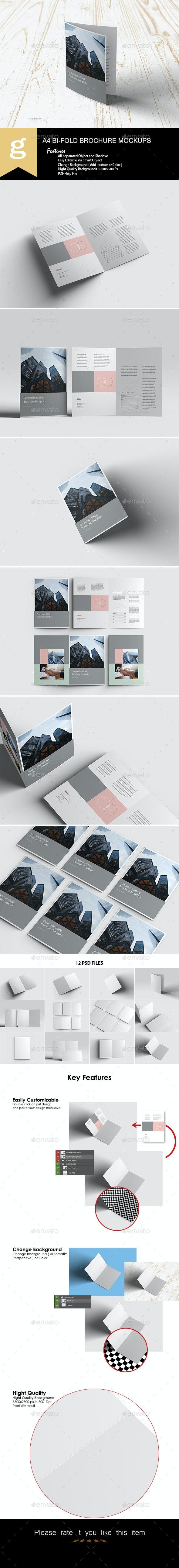 A4 Bifold Brochure Mock-Ups - Brochures Print