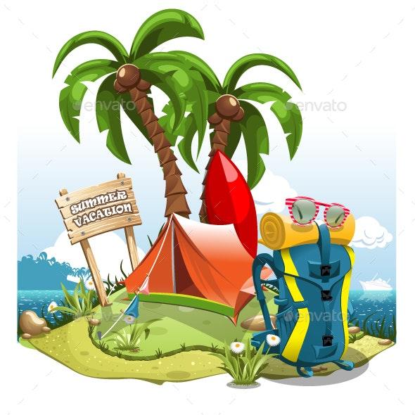 Summer Vacation - Travel Conceptual