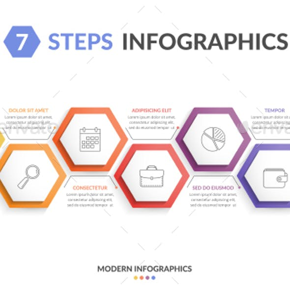 Infographic Template with 7 Steps