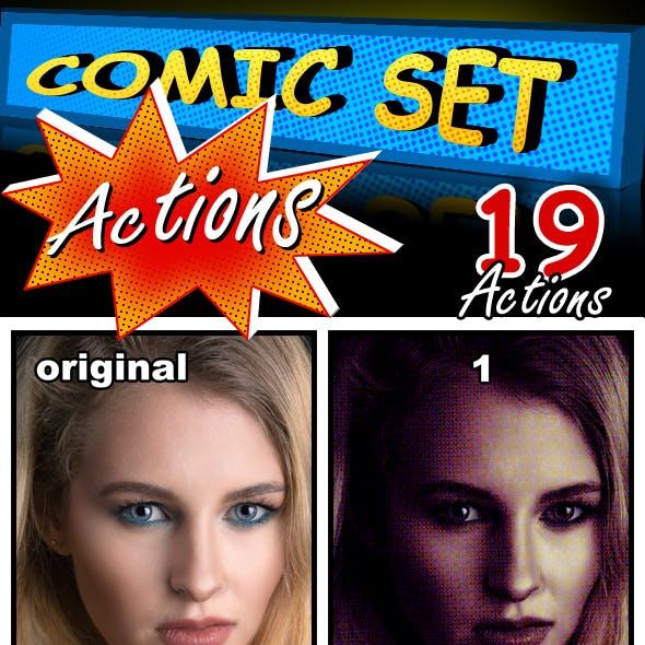 Comic Set Actions