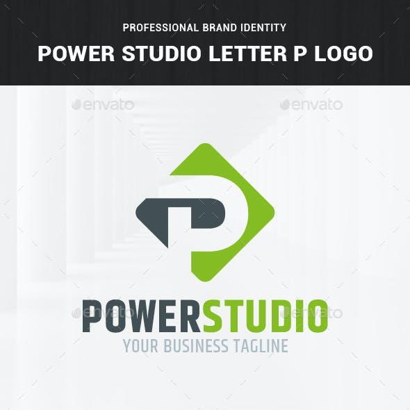 Power Studio - Letter P Logo Template