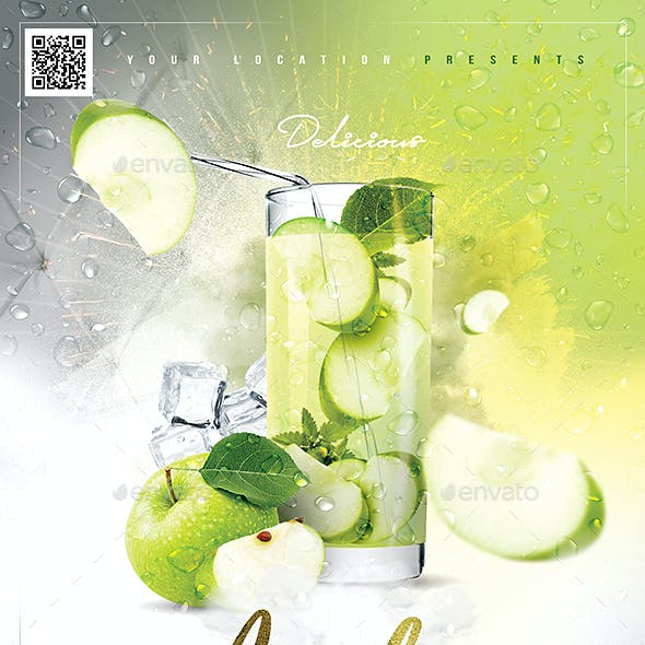 Apple Cocktail Drink Flyer
