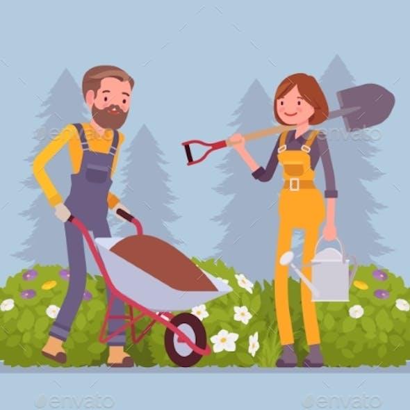 Young Gardeners Working