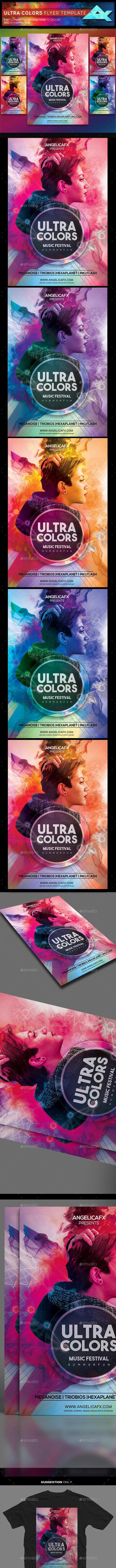Ultra Colors Photoshop Flyer Template - Flyers Print Templates