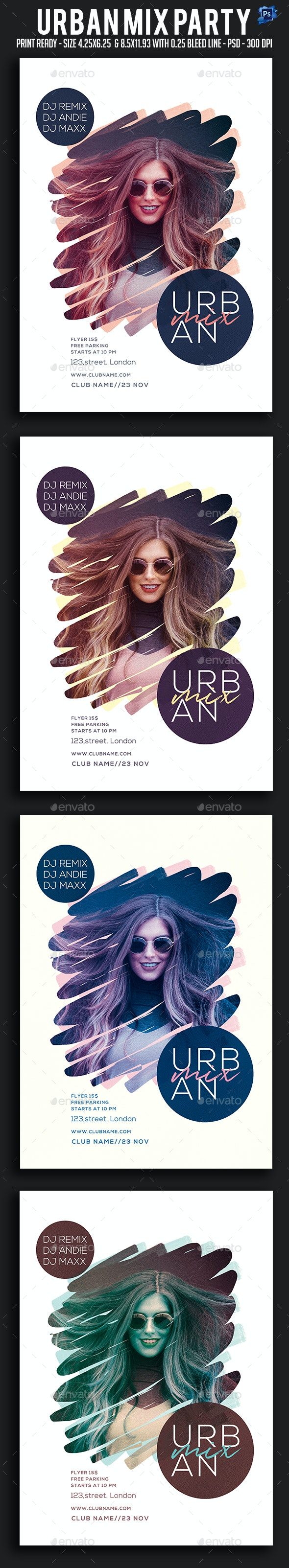 Urban Mix Party Flyer - Clubs & Parties Events