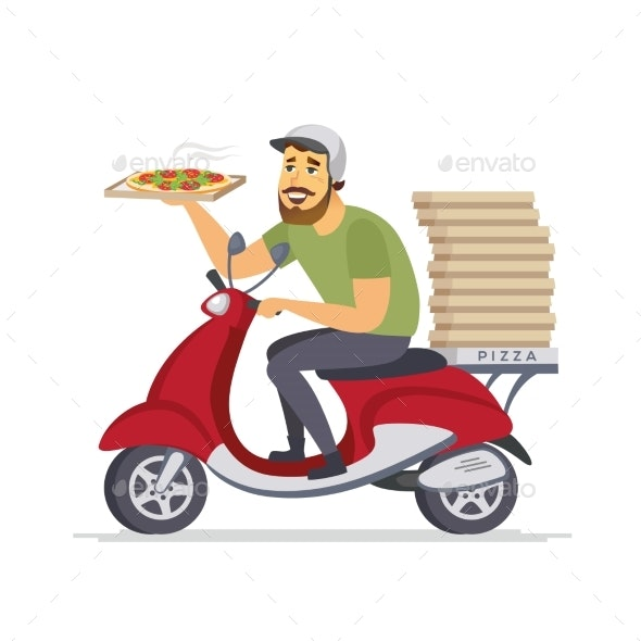 Delivery Man - Cartoon People Characters Isolated - People Characters