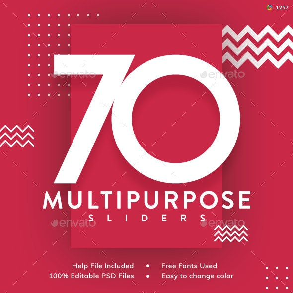 Multipurpose Sliders - 70 Designs - Updated! - Sliders & Features Web Elements