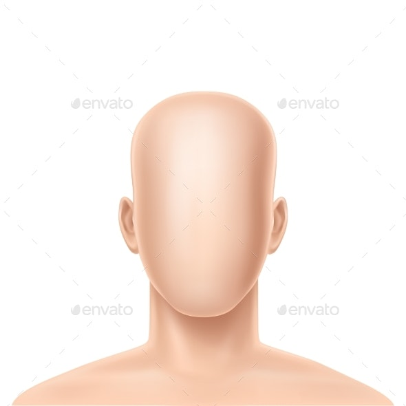 Vector Realistic Faceless Human Model - People Characters