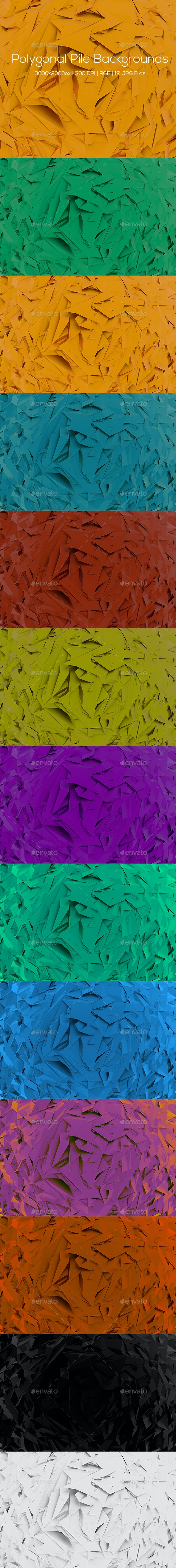 Polygonal Pile Backgrounds - Abstract Backgrounds