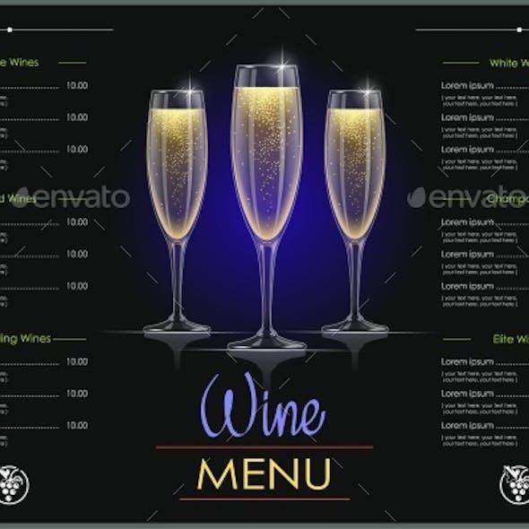 Champagne Glass Menu