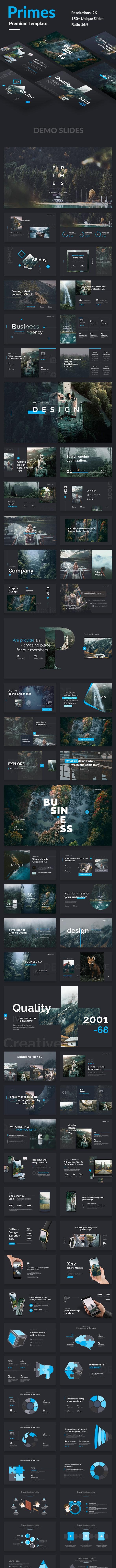 Primes Premium Keynote Template - Creative Keynote Templates