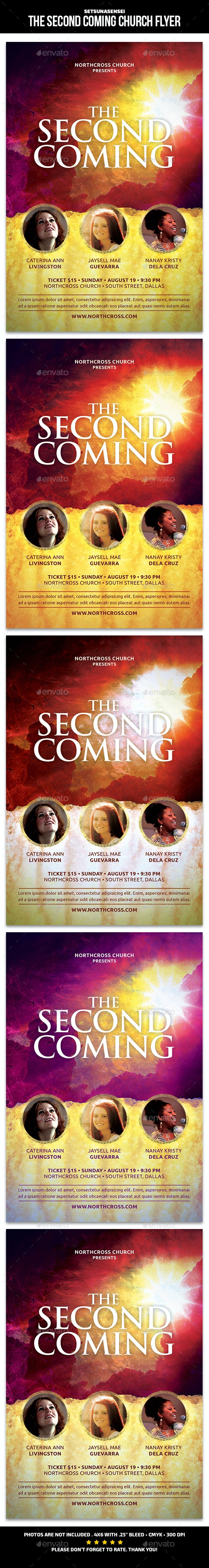 The Second Coming Church Flyer - Church Flyers