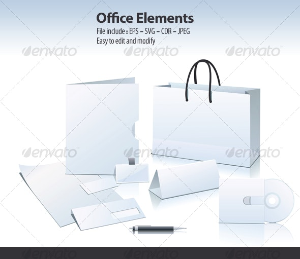 Office Elements - Man-made Objects Objects