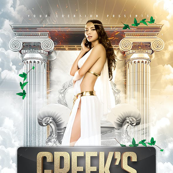 Greek's Toga Madness Flyer