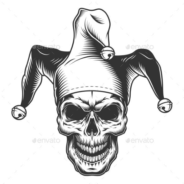 Skull in Jester Hat - Miscellaneous Vectors