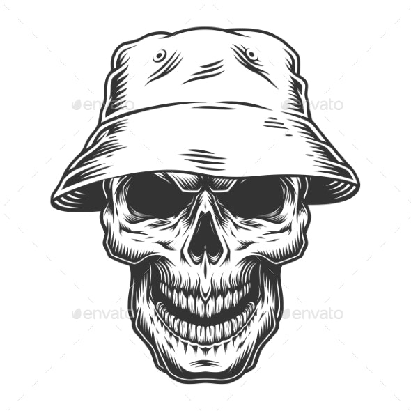 Skull in Panama Hat - Miscellaneous Characters