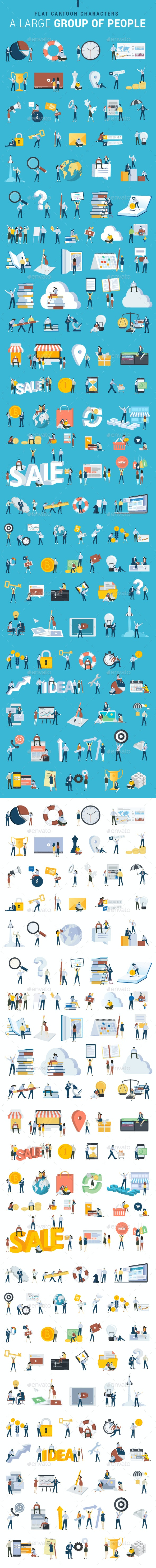 Flat Design Business People Icons - People Characters