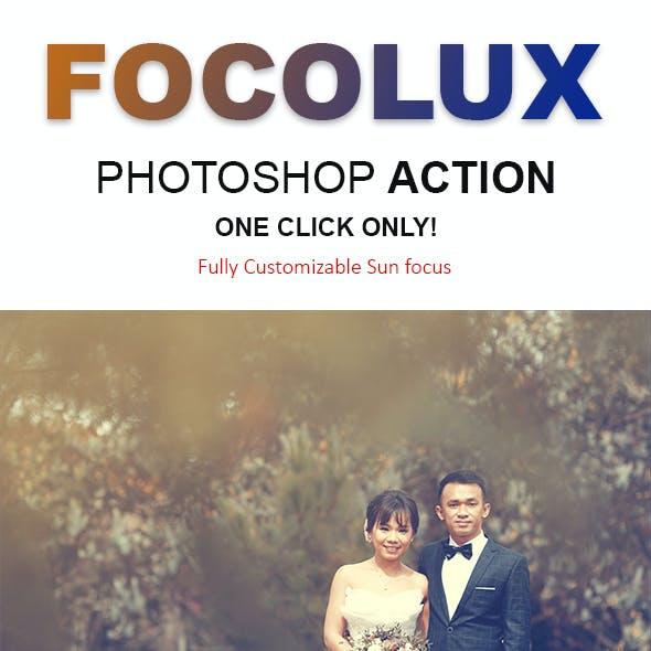 Focolux | Color Grading & Sun Lighting Effects Photoshop Action